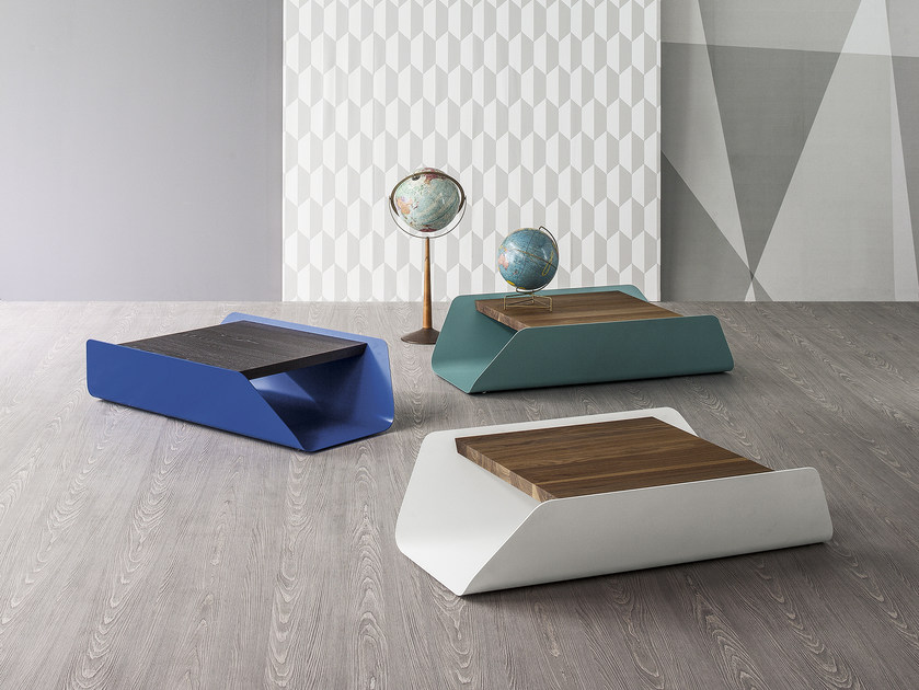 Low rectangular coffee table BEND by Bonaldo