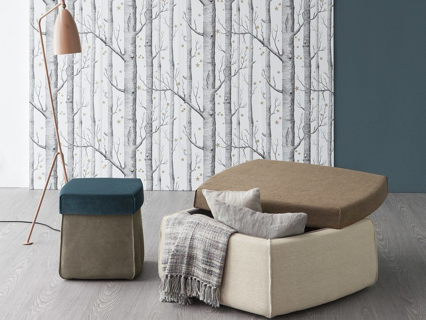 Storage upholstered pouf SECRET by Bonaldo