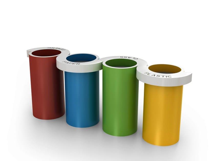 Litter bin for waste sorting ESSE-O by LAB23 Gibillero Design