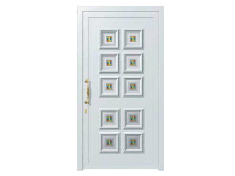 Glass and aluminium armoured door panel ALFA/K10 by ROYAL PAT