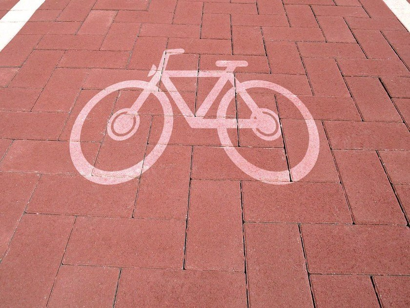 Paving block MATTONE FOR CYCLE PATHS by PAVESMAC