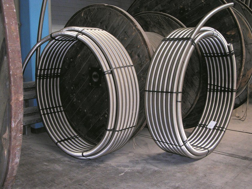 Pipes for heating system SPIRAFLEX by BRUGG PIPE SYSTEMS