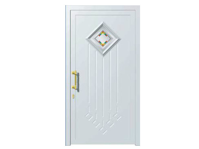 Glass and aluminium armoured door panel DORADO/K1 by ROYAL PAT