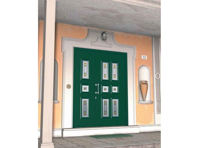Glass and aluminium armoured door panel ERIDANO/KS3+ERIDANO/K6 by ROYAL PAT