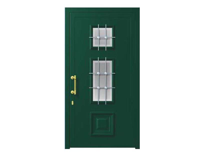 Glass and aluminium armoured door panel MIRANDA/K2 by ROYAL PAT