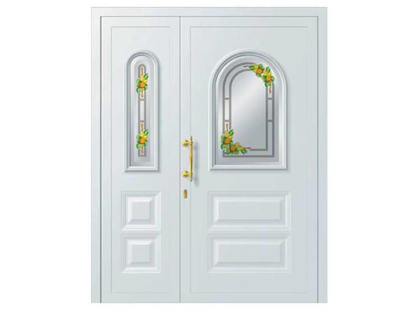 Glass and aluminium armoured door panel REGOLO/KA1+ALFAIR/KS1 by ROYAL PAT
