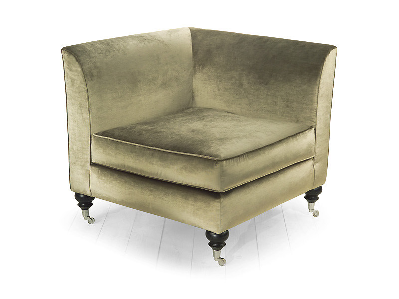 Corner upholstered armchair with casters GLADYS | Armchair by MARIONI