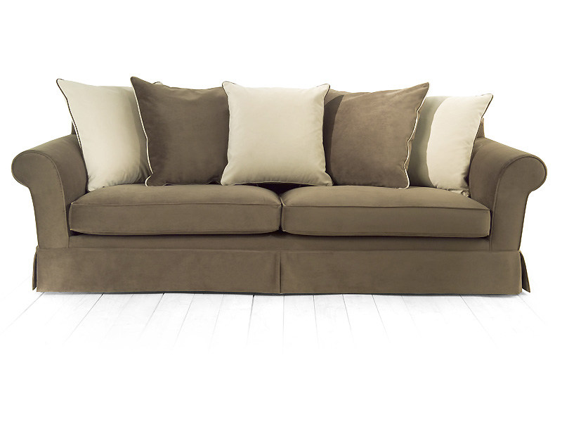 4 seater sofa with removable cover SAFFRON | 4 seater sofa by MARIONI