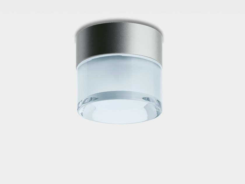 LED glass and aluminium ceiling lamp CUP by iGuzzini