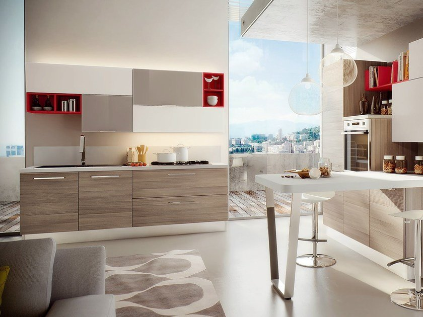 SWING | Cucina laccata By Cucine Lube design Studio Ferriani