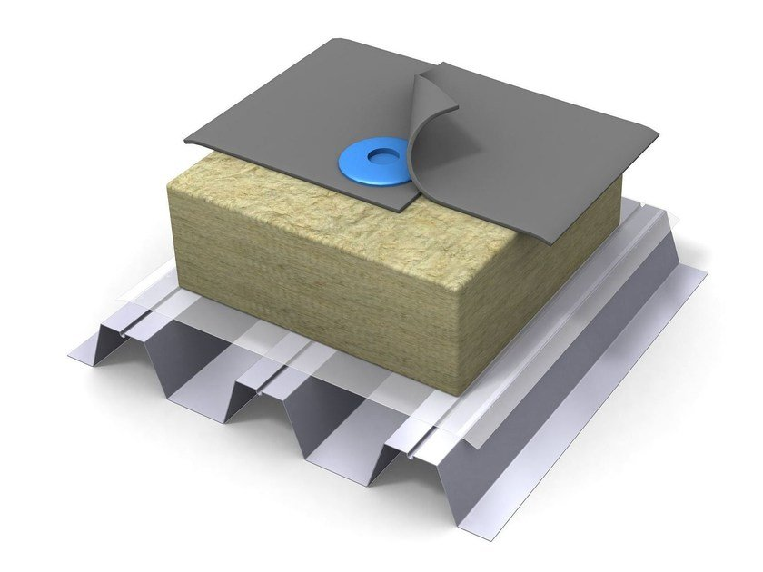 Rock wool Thermal insulation panel PAROC ROS 50 by LINK industries