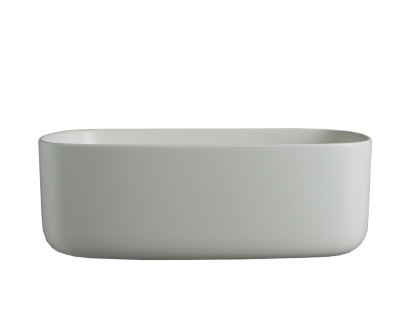 Oval wall-mounted polyurethane washbasin BOUNCE by EVER Life Design