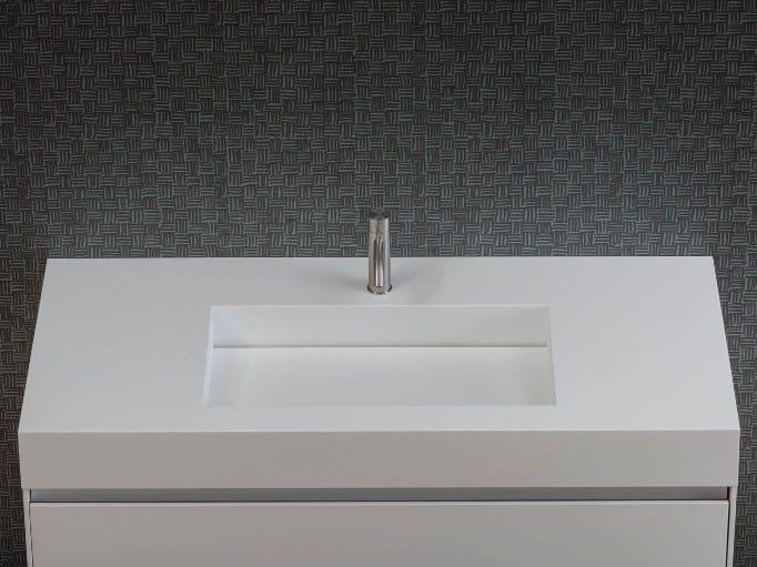 Single Corian® washbasin UNICO   Corian® washbasin by Rexa Design