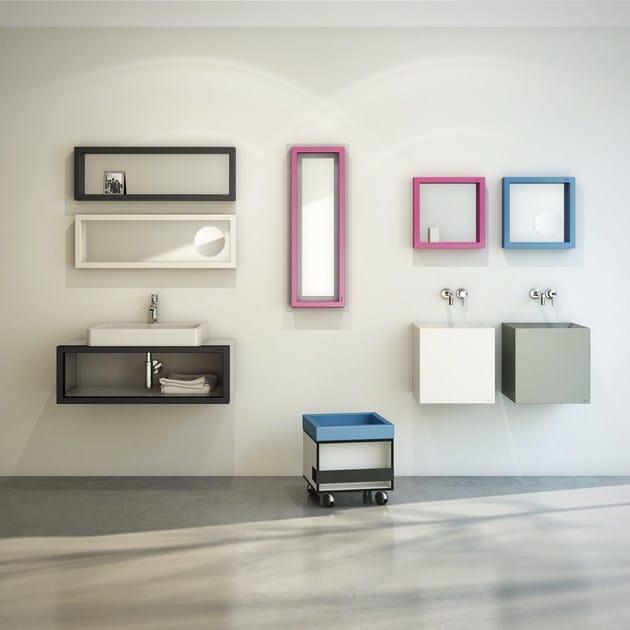 Polyurethane bathroom wall shelf SOSO90 by EVER Life Design