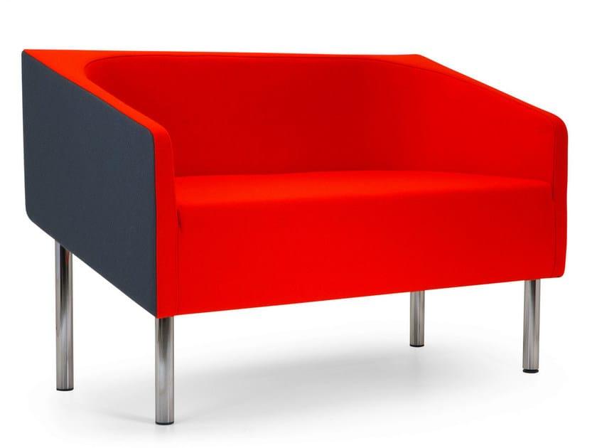 2 seater fabric sofa COCODÌ LOW | Sofa by Adrenalina