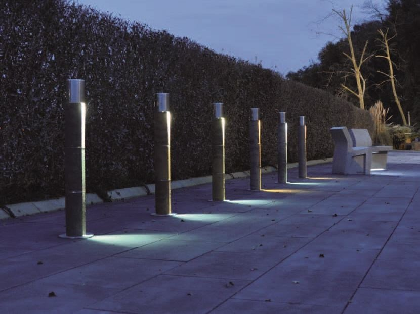 Bollard with built-in light FITA by PAVESMAC