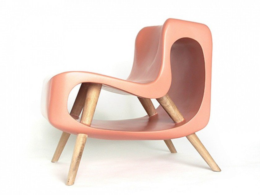 Resin easy chair OSSELET by Binome