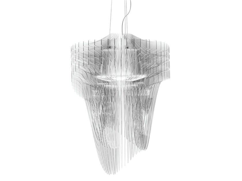 LED Cristalflex® pendant lamp ARIA TRANSPARENT by Slamp