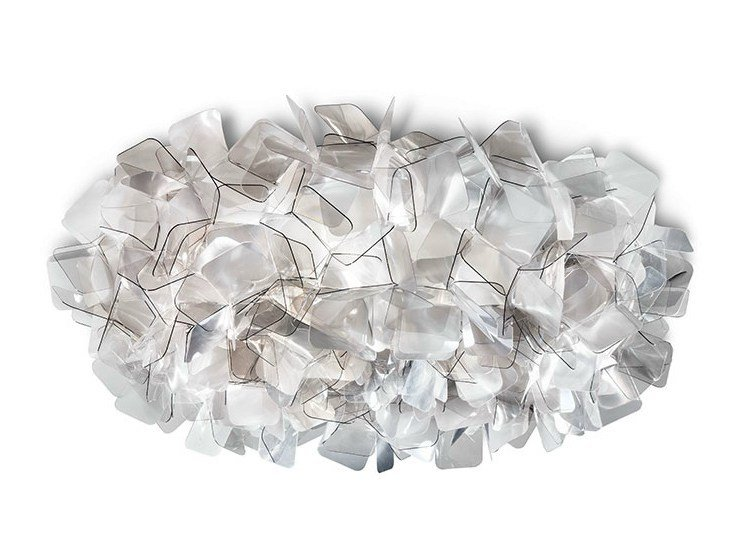 LED Cristalflex® ceiling lamp CLIZIA LARGE FUMÈ by Slamp