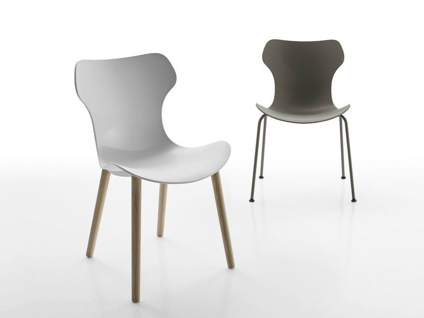 Stackable plastic chair PAPILIO SHELL | Chair by B&B Italia