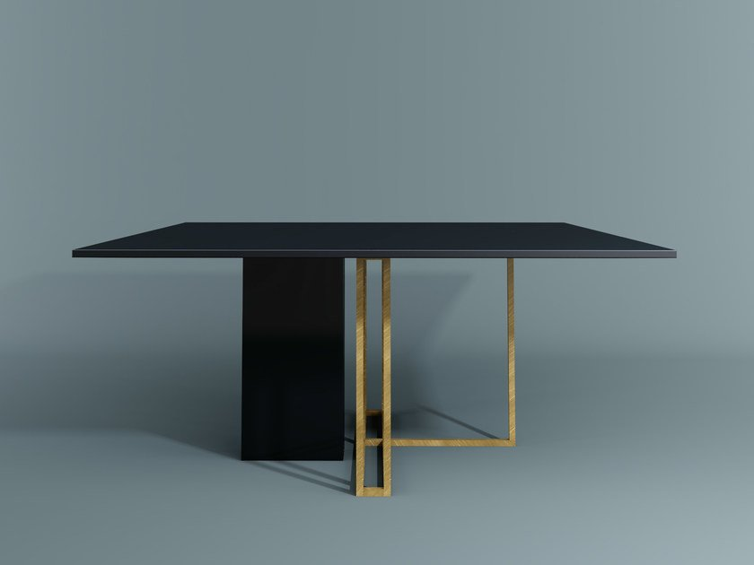 Square dining table PLINTO | Square table by Meridiani