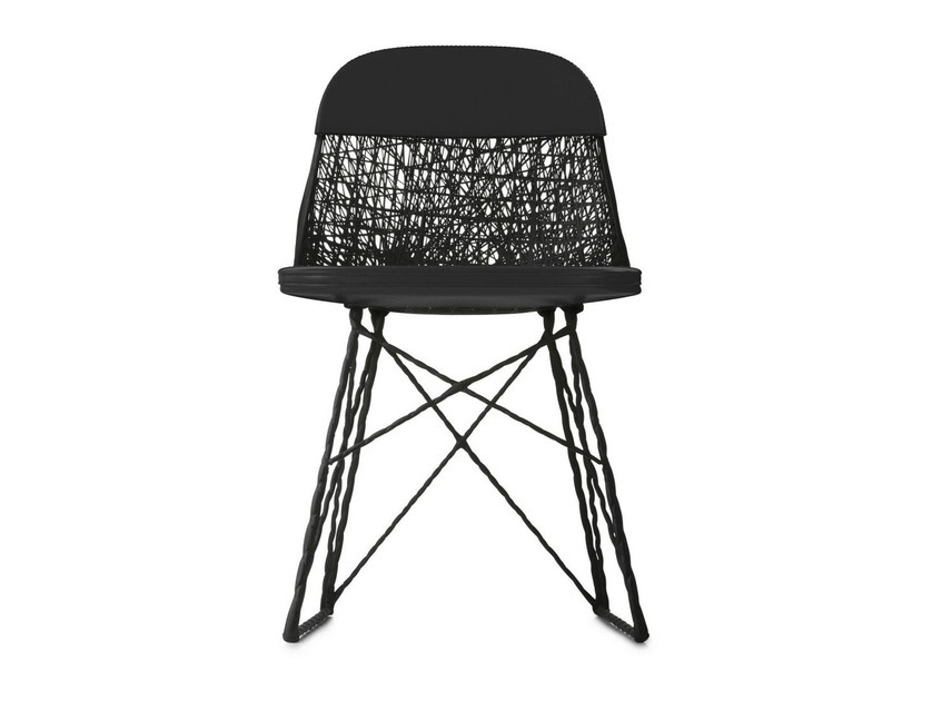 Sled base imitation leather chair CARBON PAD & CAP by moooi