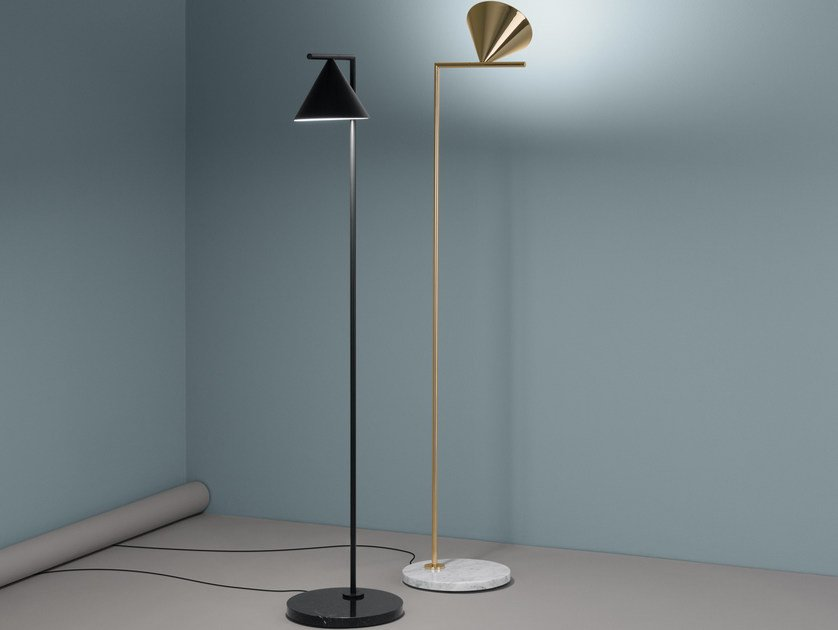 Lampada da terra a LED a luce diretta in alluminio CAPTAIN FLINT ...