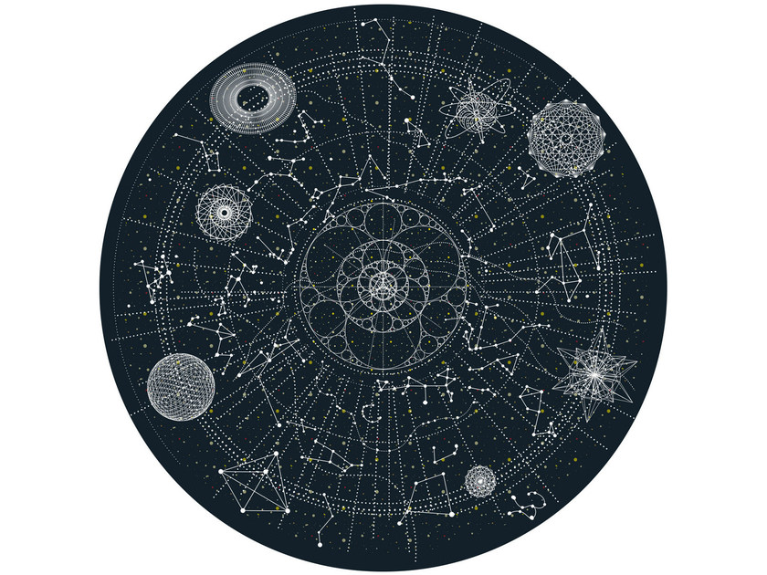Patterned round rug CELESTIAL by moooi