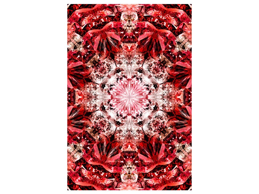 Patterned rectangular rug CRYSTAL FIRE by moooi