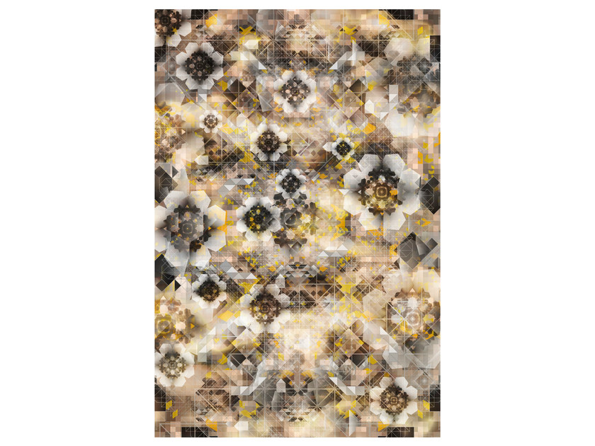 Patterned rectangular rug DIGIT GLOW by moooi