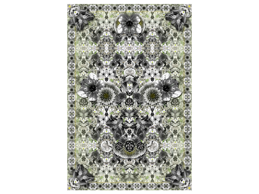 Rectangular rug with floral pattern EDEN KING by moooi