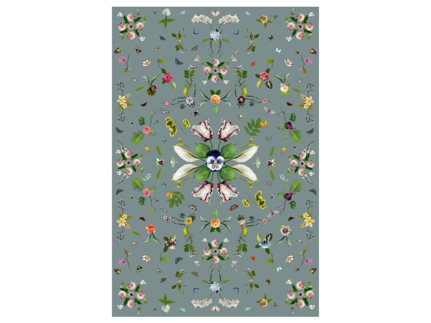 Rectangular rug with floral pattern GARDEN OF EDEN GREY by moooi