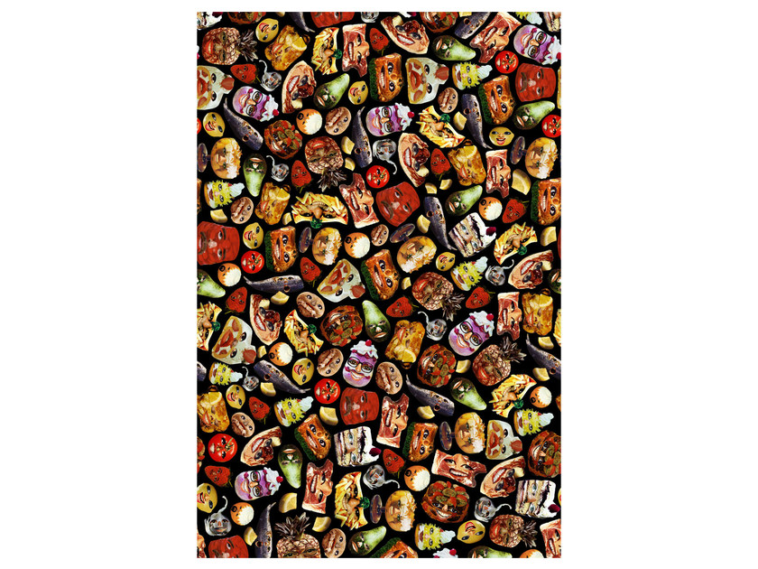 Patterned rectangular rug HUNGRY by moooi