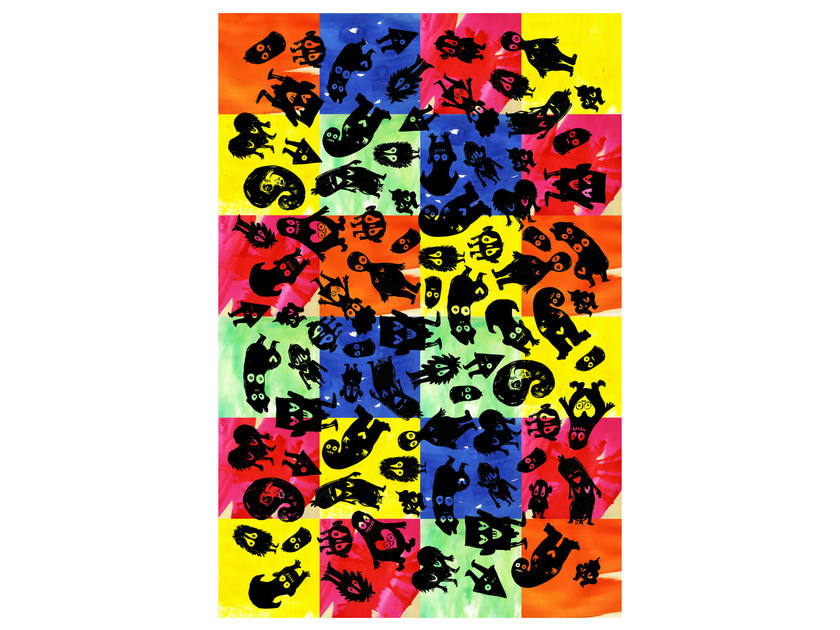 Patterned rectangular rug IT'S PARTY TIME by moooi