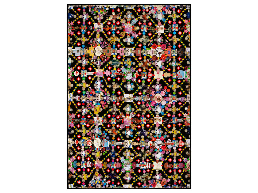 Patterned rectangular rug OBSESSION BLACK by moooi