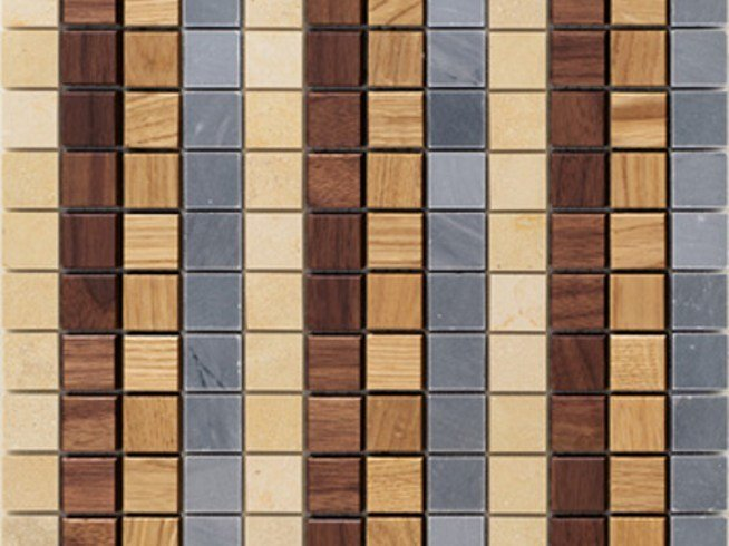 Wooden mosaic CADENCE by Mosaico+