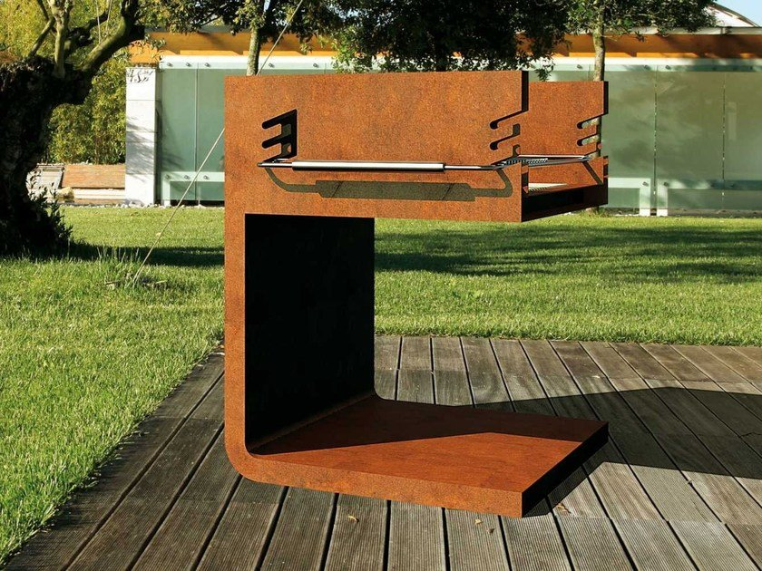 Barbecue Grill aus Corten™ C - BQ By Metalco