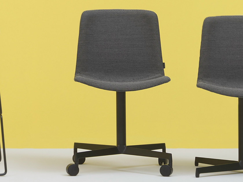 Chair with 4-spoke base with casters TWEET SOFT | Chair with casters by PEDRALI