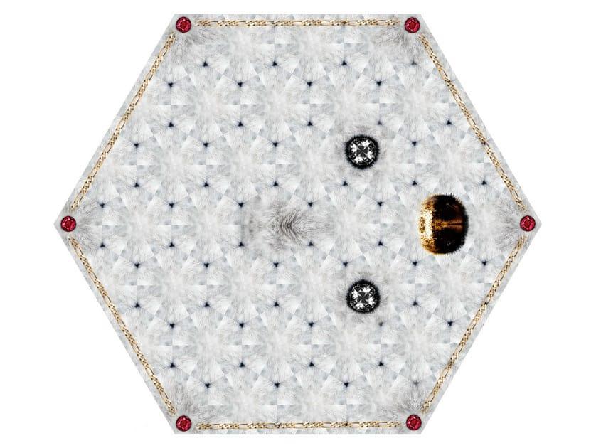 Patterned rug CRYSTAL TEDDY by moooi