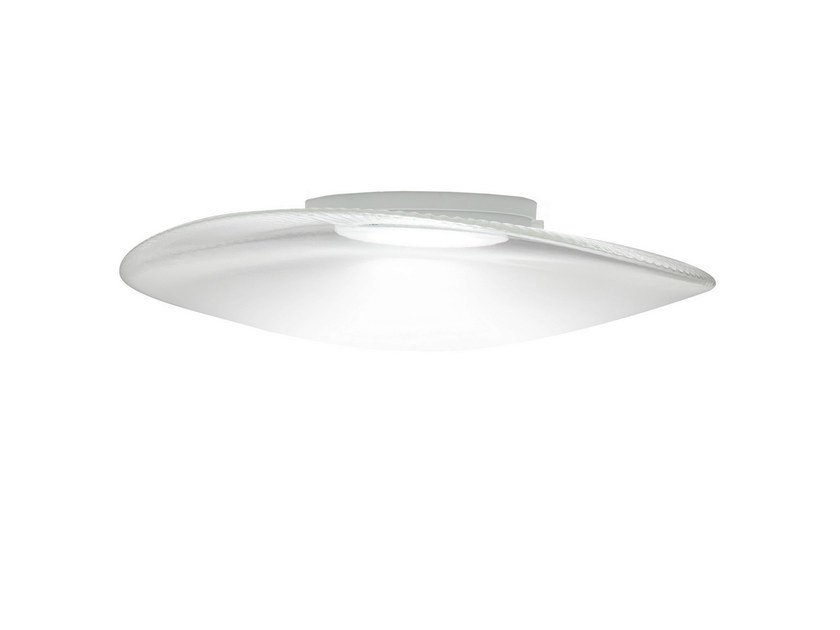 LED blown glass ceiling lamp LOOP   Ceiling lamp by Fabbian
