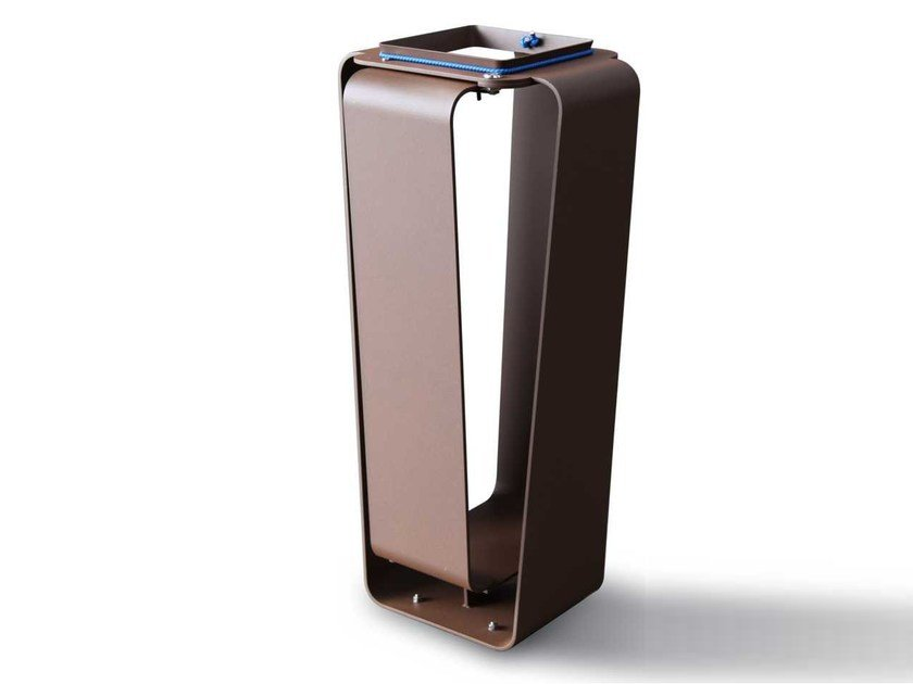 Corten™ litter bin CLUB C | Litter bin by Metalco