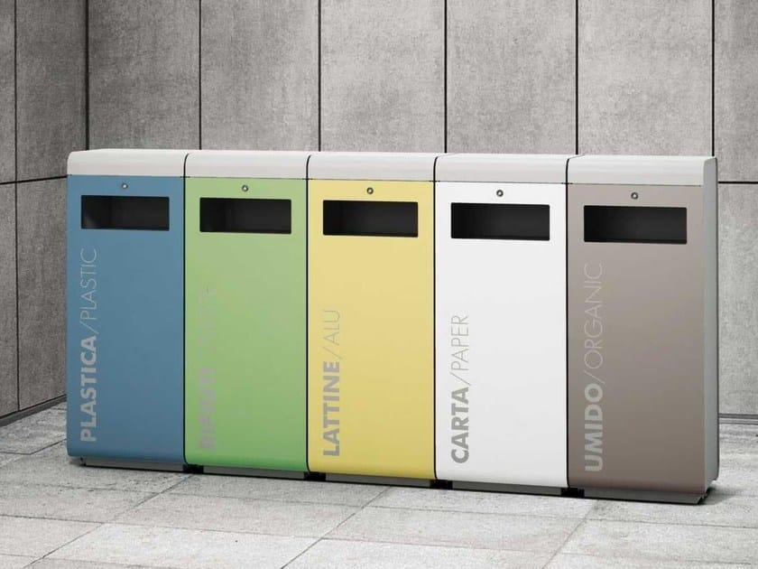 Stainless steel litter bin ECOSIDE | Litter bin by Metalco