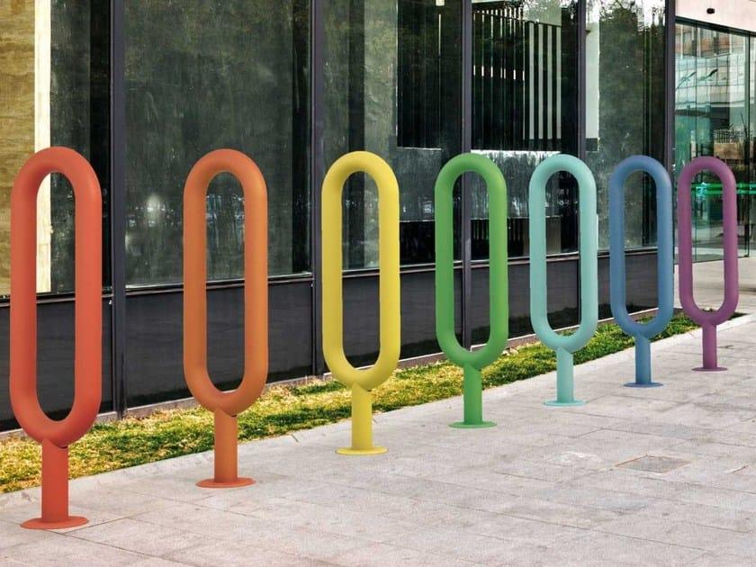 Steel Bicycle rack OVAL | Bicycle rack by Metalco