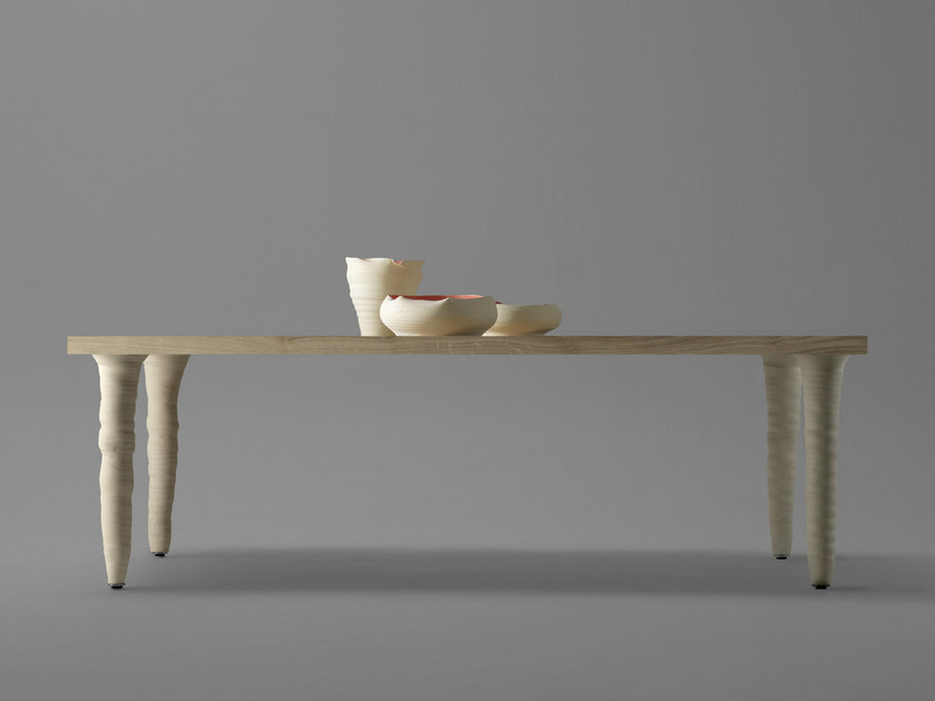 Rectangular oak and porcelain stoneware table FANG | Rectangular table by BD Barcelona Design