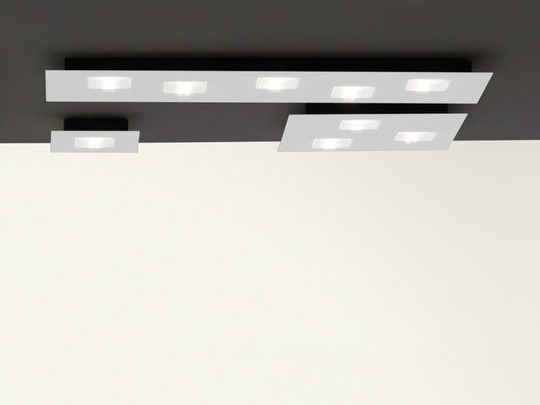 LED aluminium ceiling lamp QUARTER   Ceiling lamp by Fabbian