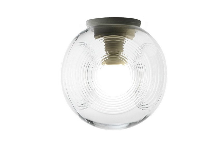 Fluorescent blown glass ceiling lamp EYES | Ceiling lamp by Fabbian