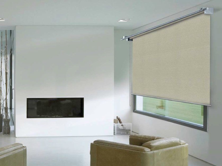 Fabric roller blind LAYLIGHT® LINEO TONDO by RESSTENDE