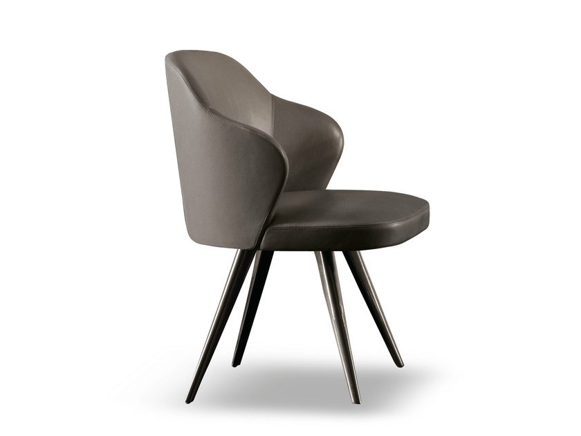 Chair LESLIE LITTLE ARMCHAIRS by Minotti
