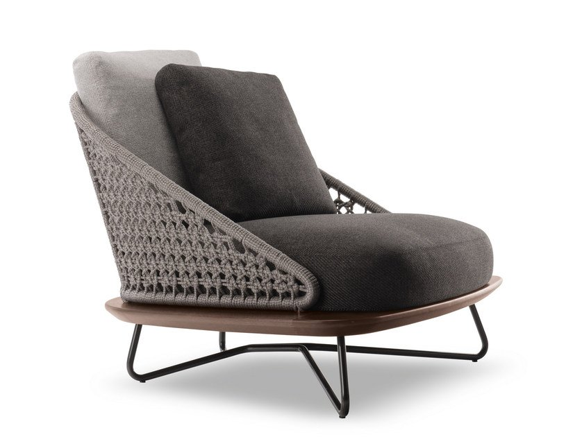 minotti outdoor furniture. Steel And Wood Armchair RIVERA ARMCHAIR By Minotti Outdoor Furniture