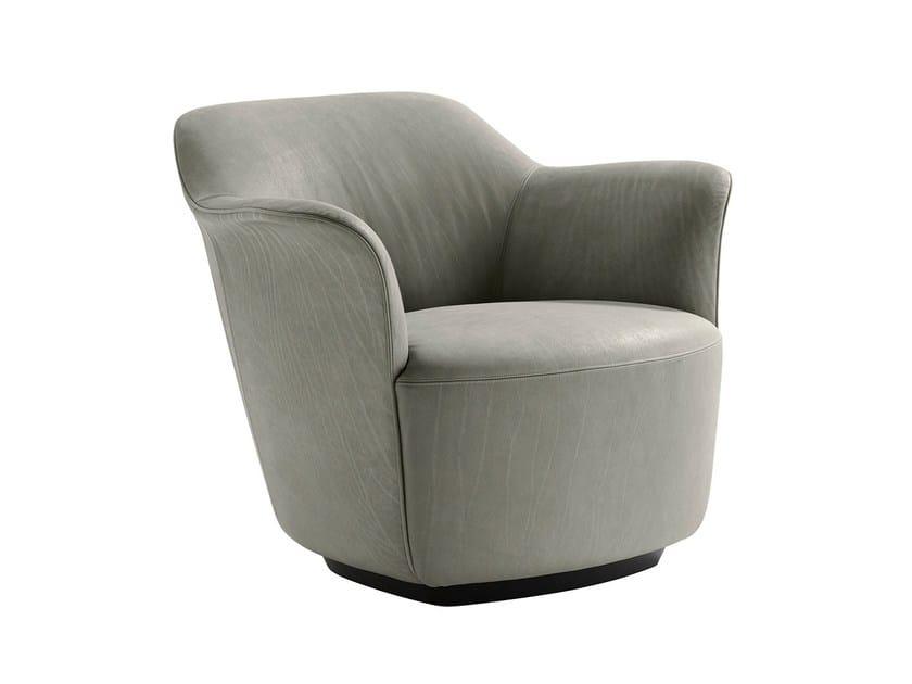 Armchair with armrests AIDA by Poltrona Frau